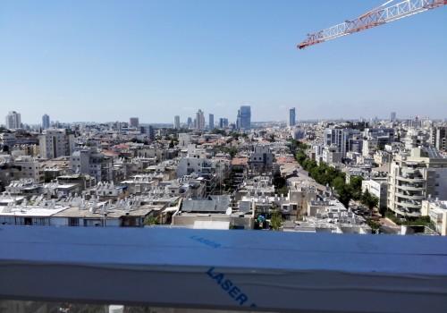 במרכז רמת-גן דירת פנטהאוז חדשה 6 ח', במפלס אחד – דירת יוקרה מיוחדת ויחידה בקומה, ברחוב יוקרתי שקט